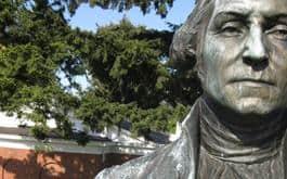 George Washington Sculpture in need of restoration. (Detail)
