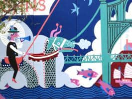 The St. John's Mural, created by artist Carson Ellis, is just one of the many public art works that will be highlighted in Celebrate Public Art at City Hall.