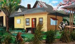Esteban Camacho-Steffensen's mural for the Community Energy Project, 422 NE Alberta Street, 2010.