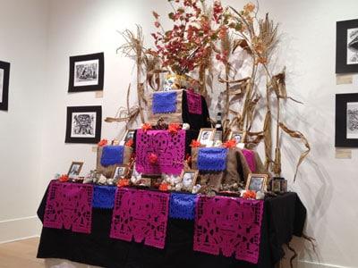 Pepe Moscoso's Día de los Muertos installation at the Portland building runs through the end of October.