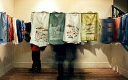 "Shu-Ju Wang's ""The Laundry Maze"" will be on view at the Portland Building Installation Space."