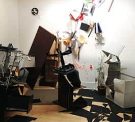 Jesse Taylor's installation Deconstruction Reconstruction: Office opens at the Portland Building on July 7th.