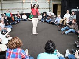 Arts teachers participate in professional development with The Right Brain Initiative.