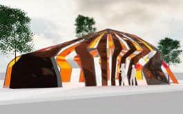 A rendering of Jorge Pardo's concept.
