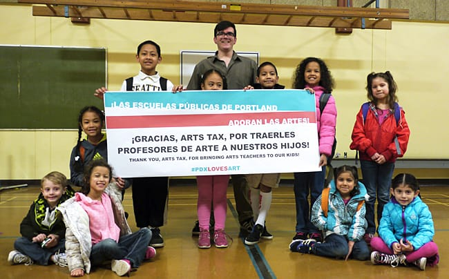Before the arts tax, Sitton Elementary in St. Johns didn't have a full-time arts specialist. Now, students receive weekly instruction from art teacher Carlos Baca.