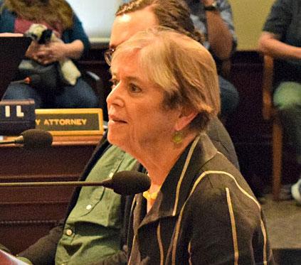 RACC executive director,  Eloise Damrosch, reporting to Portland City Council.