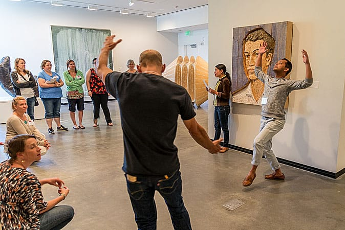 Educators gain tools to bring creativity to classrooms with The Right Brain Initiative. Photo by Paul Fardig.