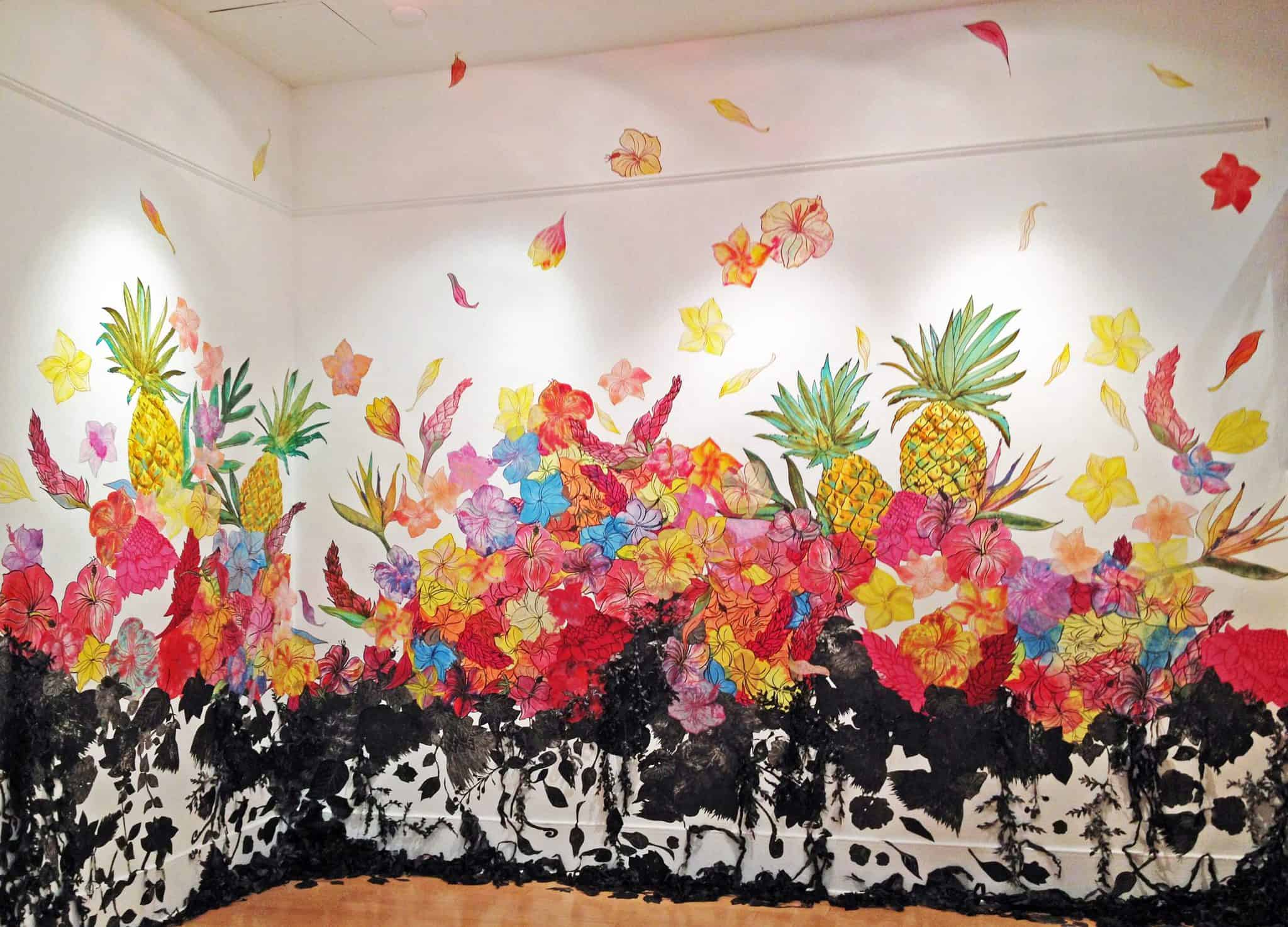 Kanani Miyamoto's Industry of Aloha, installed in the lobby of the Portland Building, runs through June 24th.
