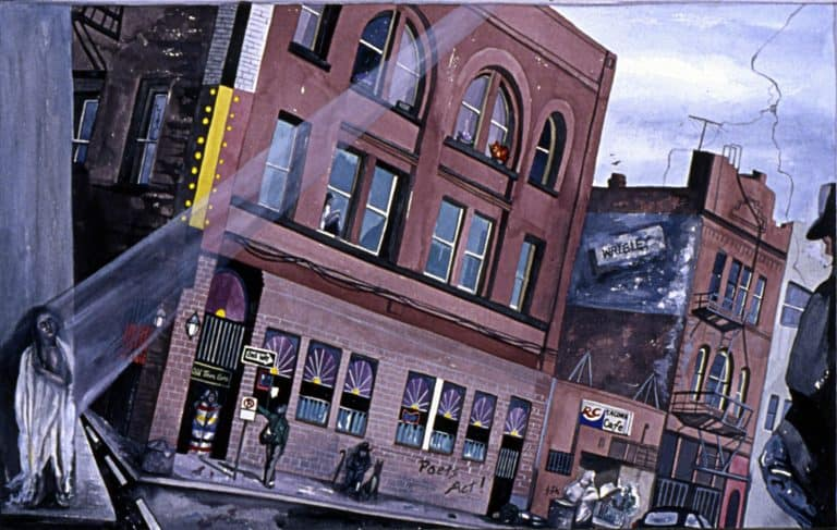 "Susana Santos, ""City Dwellers,"" 1993, watercolor & gouache"