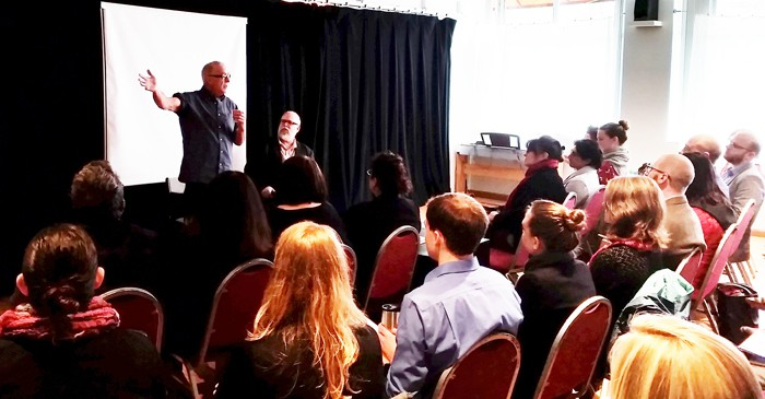 Stan Foote and Ross McKeen of Oregon Children's Theatre share their knowledge with the Art of Leadership class of 2016.