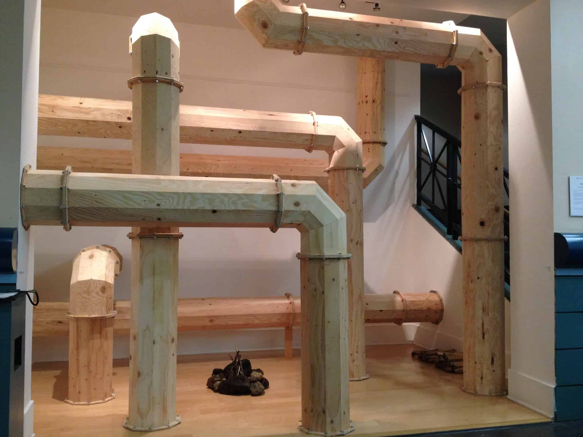 """Alex Luboff's installation """"Pipelines"""" will be on exhibit at Portland Building lobby through December 9."""