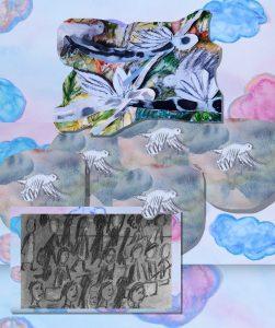Still image from Laura Medina's work, Flying.