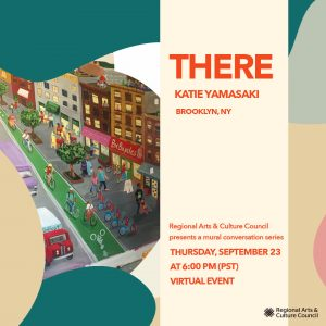 """Graphic about the mural artist series """"Here and There"""" on September 23"""